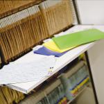Arquivo Deslizante Pasta Pendular prateleira retrátil para consulta